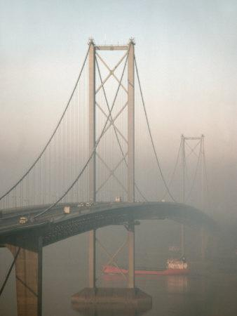 Forth Road Bridge Crossing the Firth of Forth Between Queensferry and Inverkeithing