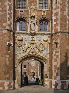 Front Gate of St. John's College Built 1511-20, Cambridge, Cambridgeshire, England, UK by Nigel Blythe