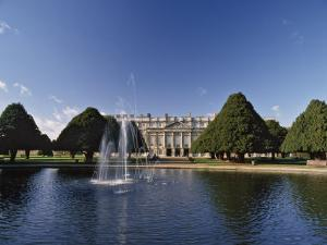 Lake, Fountain and Ornamental Trees in Hampton Court Palace Grounds, Near London by Nigel Blythe