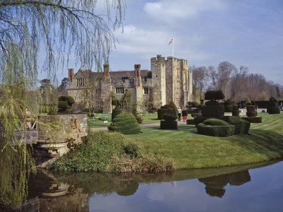 Leeds Castle, Rebuilt in Stone by the Normans around 1120, Kent, England, UK