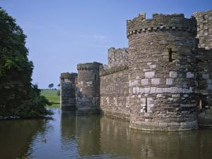 Moat and Outer Curtain Wall at Beaumaris Castle by Nigel Blythe