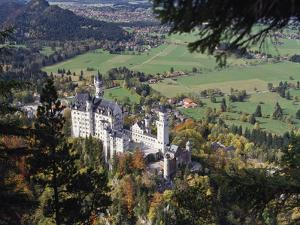Neuschwanstein Castle, West of Fussen, Bavaria, Germany, Europe by Nigel Blythe