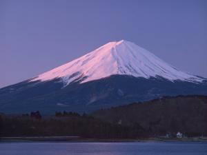 Sunrise on Mount Fuji from Lake Kawaguchi, Yamanashi Prefecture, Japan by Nigel Blythe