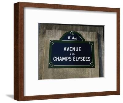 Avenue Des Champs Elysees Street Sign, Paris, France, Europe