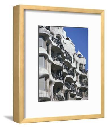 Balconies on the Casa Mila, a Gaudi House, in Barcelona, Cataluna, Spain