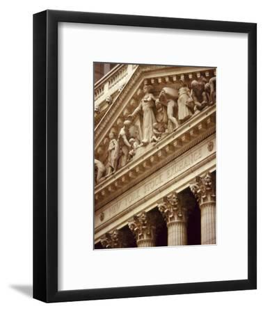 Detail of the New York Stock Exchange Facade, Manhattan, New York City, USA