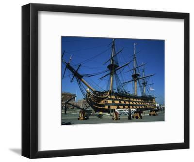 Hms Victory in Dock at Portsmouth, Hampshire, England, United Kingdom, Europe