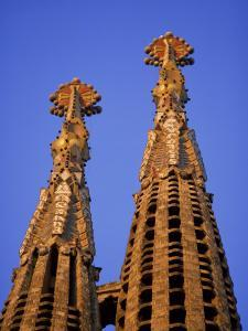 Spires of the Sagrada Familia, the Gaudi Cathedral, in Barcelona, Cataluna, Spain, Europe by Nigel Francis