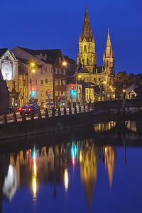 A dusk view of St. Fin Barre's Cathedral, on the banks of the Lee River, in Cork, County Cork, Muns by Nigel Hicks