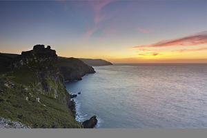 A Dusk View of the Cliffs at the Valley of Rocks, Lynton, Exmoor National Park, Devon by Nigel Hicks