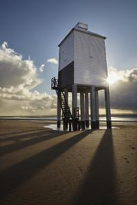 A Historic, Mid-19th Century, Wooden Lighthouse, on the Beach at Burnham-On-Sea by Nigel Hicks