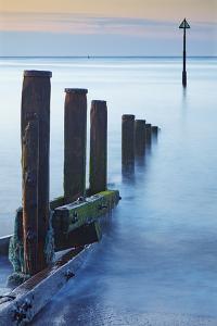 A Peaceful Dawn over Teignmouth Beach, Teignmouth, Devon, England, Great Britain by Nigel Hicks