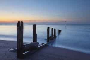 A Peaceful Dawn over Teignmouth Beach, Teignmouth, Devon, Southwest England by Nigel Hicks