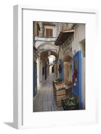 A Street Scene in the Old Part of Sperlonga, Lazio, Italy