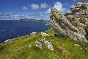 A view from Clogher Head towards Sybil Point, at the western end of the Dingle Peninsula, County Ke by Nigel Hicks