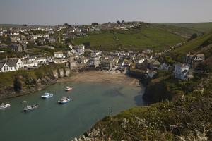 A View of the Harbor at Low Tide, at Port Isaac, Near Padstow, on the Atlantic Coast of Cornwall by Nigel Hicks