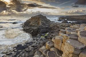 An evening view of the Giant's Causeway, UNESCO World Heritage Site, County Antrim, Ulster, Norther by Nigel Hicks