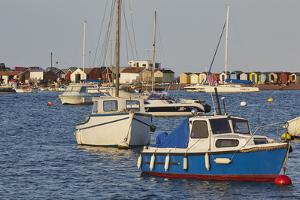 Boats Moored in the Mouth of the River Teign, Just Off the Town of Teignmouth, Devon by Nigel Hicks