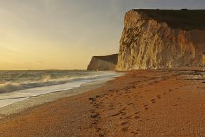 Cliffs Near Durdle Door at Sunset, Looking Towards Weymouth by Nigel Hicks