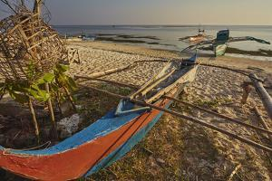 Fishing boats pulled up onto Paliton beach, Siquijor, Philippines, Southeast Asia, Asia by Nigel Hicks