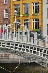 Ha'penny Bridge across the River Liffey, Dublin, Republic of Ireland, Europe by Nigel Hicks