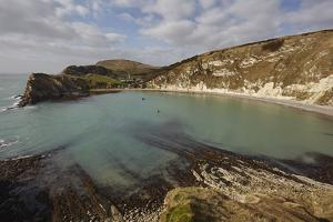 Lulworth Cove, in the Jurassic Coast World Heritage Site, Dorset, Great Britain by Nigel Hicks