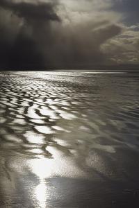 Stormy Sunlight on the Beach at Berrow, Near Burnham-On-Sea, Somerset, Great Britain by Nigel Hicks