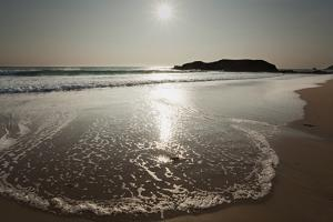 Surf at Constantine Bay, Shortly before Sunset, Near Padstow, Cornwall by Nigel Hicks
