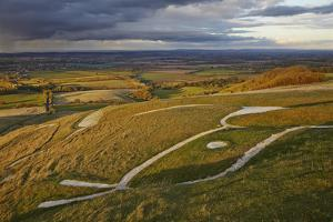 The Ancient Uffington White Horse, Carved into a Chalk Hillside Near Wantage by Nigel Hicks