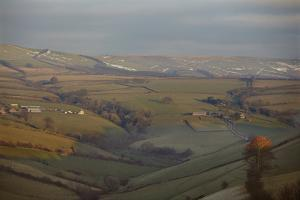The Hills of Challacombe Common in Early Winter, Near Blackmoor Gate, Exmoor National Park by Nigel Hicks