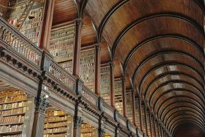 The Long Room in the library of Trinity College, Dublin, Republic of Ireland, Europe by Nigel Hicks