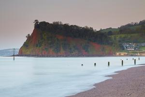 The Ness Headland at Shaldon, in the Mouth of the River Teign, from Teignmouth Beach by Nigel Hicks