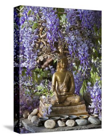 A Small Buddha Shrine Surrounded by Wisteria in Hotel Gangtey Palace, 100-Year-Old Building, Once a