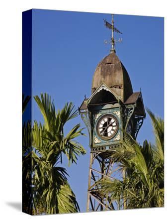 Burma, Rakhine State, the Old Clock Tower at Sittwe, Myanmar