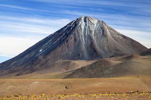 Chile, Atacama Desert, Altiplano, Antofagasta Region, El Loa Province. the Strato-Volcano Licanabur by Nigel Pavitt