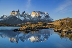 Chile, Torres Del Paine, Magallanes Province, Torres Del Paine National Park and Paine Massif by Nigel Pavitt