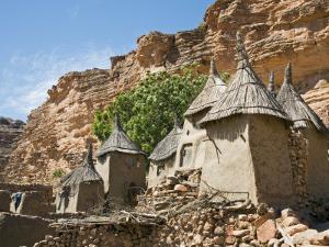 Dogon Country, Tereli, Granaries at Tereli - a Typical Dogon Village at the Base of the Bandiagara  by Nigel Pavitt