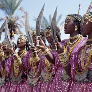 During a Dance, Girls from the Sultanate of Tadjoura, Dress Up in All their Finery and Display the by Nigel Pavitt