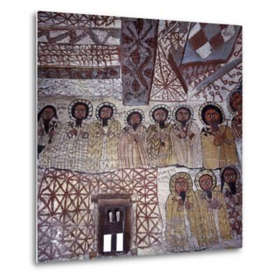 Fine Murals Decorate Interior of Rock-Hewn Church, Yohannes Maequddi, Gheralta Mountains, Ethiopia