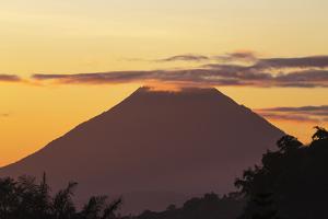 Indonesia, Flores Island, Bajawa. Ebulobo Volcano at Sunrise. by Nigel Pavitt
