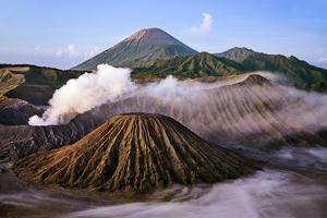 Indonesia, Java, Bromo. a Stunning Volcanic Landscape from Mount Penanjakan at Sunrise. by Nigel Pavitt