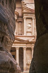 Jordan, Petra. the Siq Is the Main Entrance to the Ancient Nabataean City of Petra. Al Khazneh by Nigel Pavitt