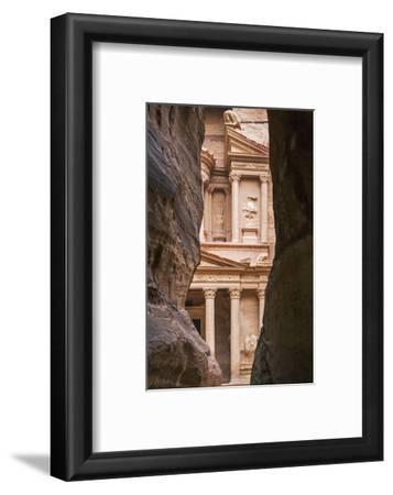 Jordan, Petra. the Siq Is the Main Entrance to the Ancient Nabataean City of Petra. Al Khazneh