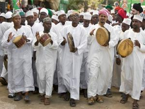 Kenya; a Joyful Muslim Procession During Maulidi, the Celebration of Prophet Mohammed's Birthday by Nigel Pavitt