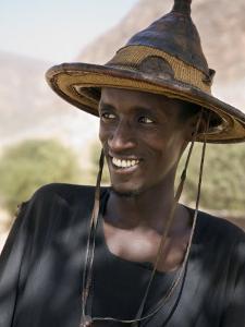 Mopti, A Fulani Man Wearing a Traditional Hat, Mali by Nigel Pavitt