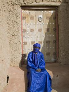 Old Entrance Door to the 14th Century Djingareiber Mosque the Great Mosque - at Timbuktu by Nigel Pavitt