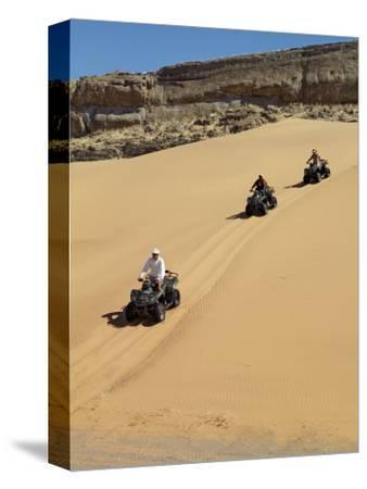 Tourists Set Out on Quad Bikes to Explore Magnificent Desert Scenery of Hartmann's Valley, Nambia
