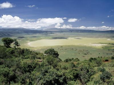 World Famous Ngorongoro Crater, 102-Sq Mile Crater Floor Is Wonderful Wildlife Spectacle, Tanzania