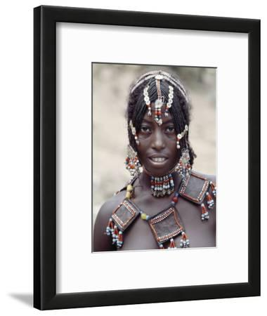 Young Afar Girl at Senbete Market, Her Elaborate Hairstyle and Beaded Jewellery