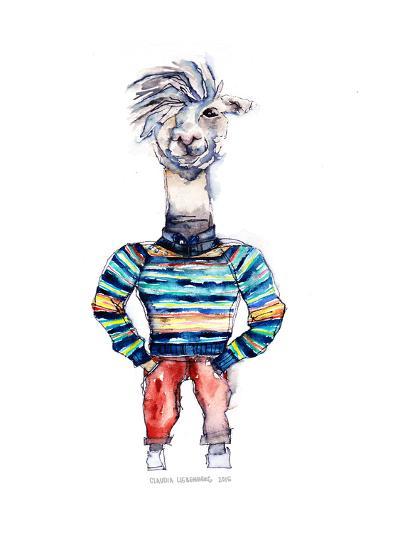 Nigel the Llama-Claudia Libenberg-Art Print